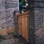 Capped Cedar Gate  Outside