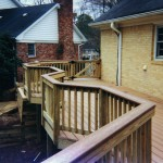 Custom Trex Deck with Decorative Handrail