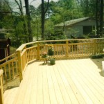 Deck with Custom Handrail design