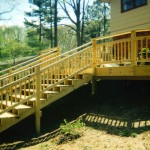 Deck with Custom Handrail right side