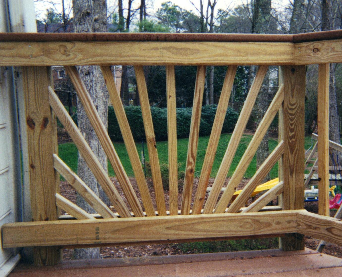 Decorative starburst handrail design affordable fence for Decorative railings
