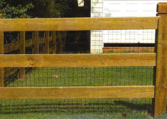 Farm Fence 3 Board Wire Included Affordable Fence