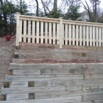 Custom4' Picket on Retaining Wall